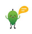 soursop guanabana character saying thank you vector image vector image