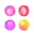 spot pastel set watercolor stains vector image vector image