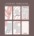 stories templates set minimalist social media vector image vector image