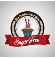 Sugar free design candy concept sweet icon