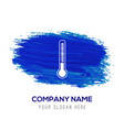 thermometer icon - blue watercolor background vector image