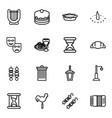 traditional icons vector image vector image