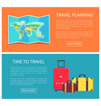 travel planning web pages set vector image vector image