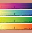 washington multiple color gradient skyline banner vector image vector image