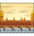 westminster abbey big ben vector image