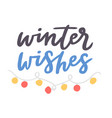 Winter hello logo badge text letters