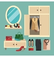 Woman Clothes Set vector image vector image