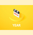 year isometric icon isolated on color background vector image