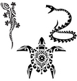 reptile tribal art tattoo vector image