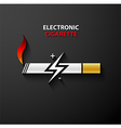 Electronic cigarette icon vector image