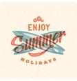 Retro Style Summer Card Emblem or a Logo vector image