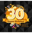 30th Anniversary Card vector image