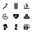 9 healthcare icons vector image vector image