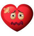 a heart character in pain vector image