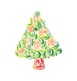 abstract beautiful christmas tree vector image vector image