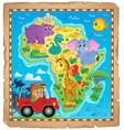 africa map theme image 4 vector image