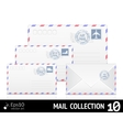 air mail envelope with postal stamp isolated