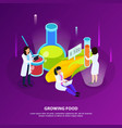 artificial food products isometric background vector image vector image