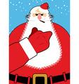 Bad Santa Claus shows Bad hand gesture Bully vector image vector image