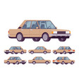 beige sedan set vector image vector image