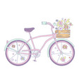 bicycle with flowers vector image