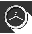 black icon with hanger and stylized shadow vector image vector image