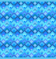 blue abstract seamless diagonal shape pattern vector image vector image