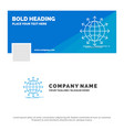 blue business logo template for globe network vector image vector image