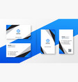 blue geometric professional business card design vector image vector image