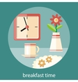 Breakfast time concept vector image vector image