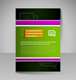 Brochure template Editable A4 poster for design vector image vector image