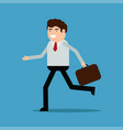 businessman running with a diplomat vector image vector image