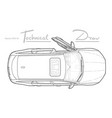 car from top view flat design auto vector image vector image