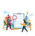 checklist clipboard questionnaire survey task vector image vector image