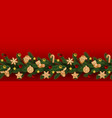 christmas and new year seamless web banner vector image