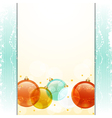 Christmas bauble panel background vector image vector image