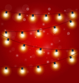 Christmas Lights - festive carnival garland vector image vector image