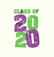 class of 2020 concept stamped word art vector image vector image