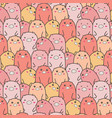 cute pig pattern background vector image vector image