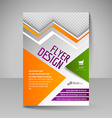 Editable A4 poster for design cover of magazine vector image