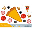 education paper game for children pizza vector image vector image