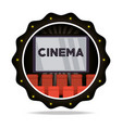emblem cinema short film with chairs vector image vector image