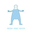 figure cartoon man with water inside concept vector image vector image