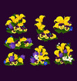 flower and blooming garden plant icon design vector image vector image