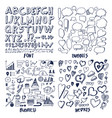 font and bubbles business vector image