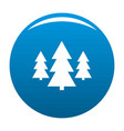 forest icon blue vector image vector image