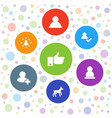 friend icons vector image vector image