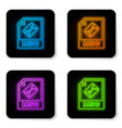 glowing neon msg file document icon download msg vector image vector image