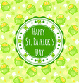 Greating card for St Patricks Day with an vector image vector image