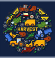 harvesting machines banner vector image